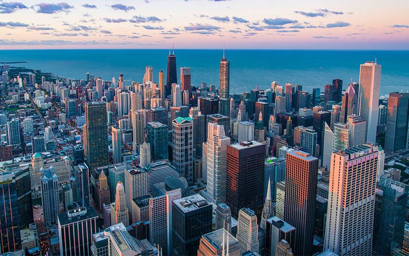 高層ビル群の画像