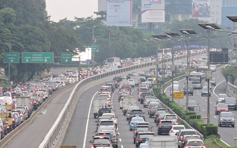インドネシア、ジャカルタ交通渋滞