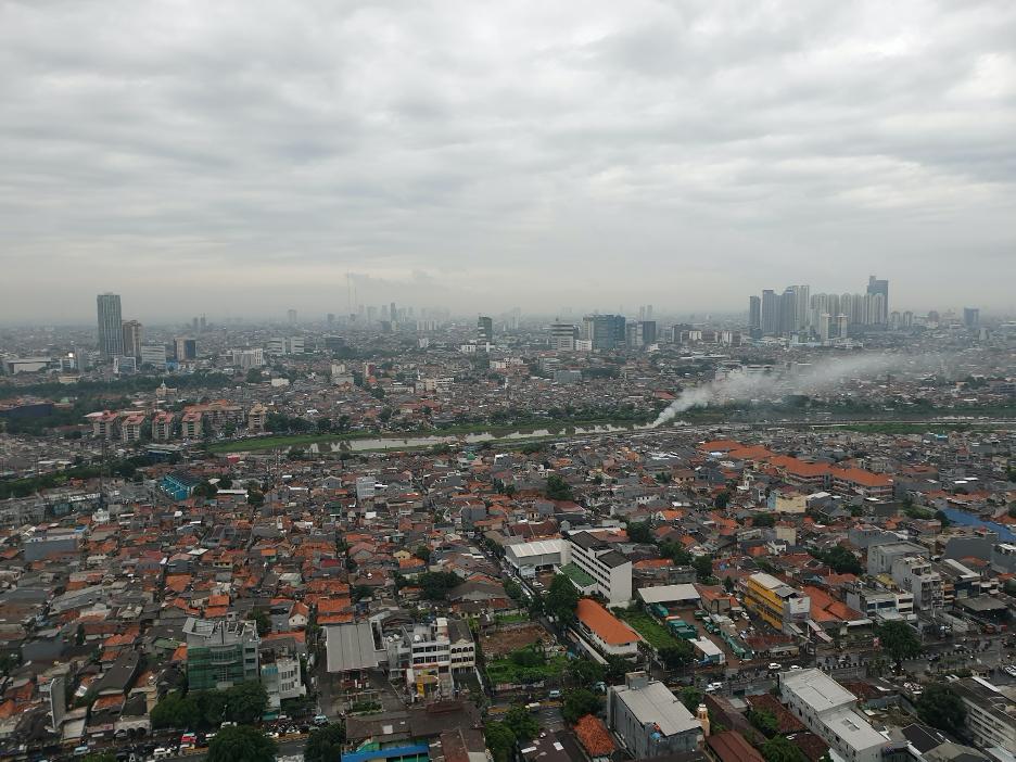 インドネシア郊外街並み